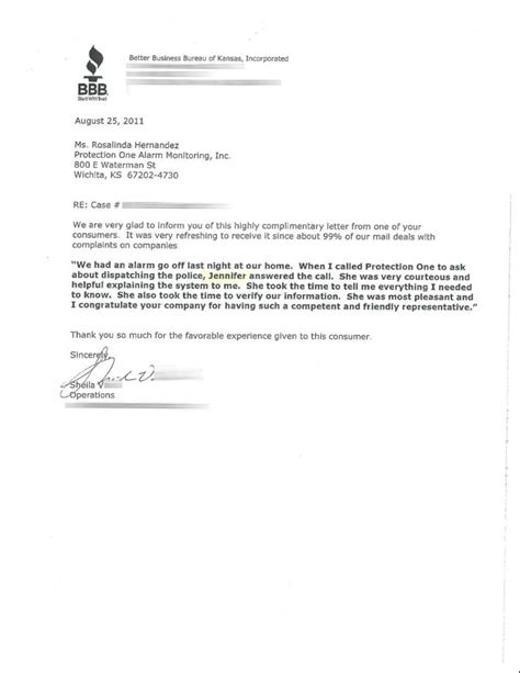 Cancellation Letter For Alarm Service Thank You Letters Protection 1