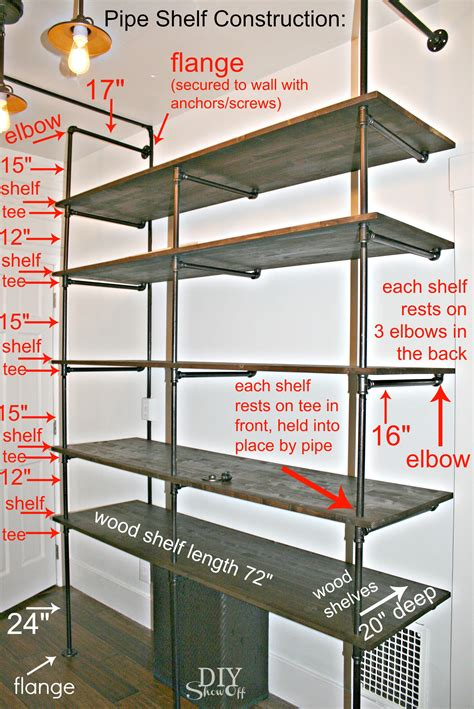 Floor Plans With Measurements tips for making a diy industrial pipe shelving unit page