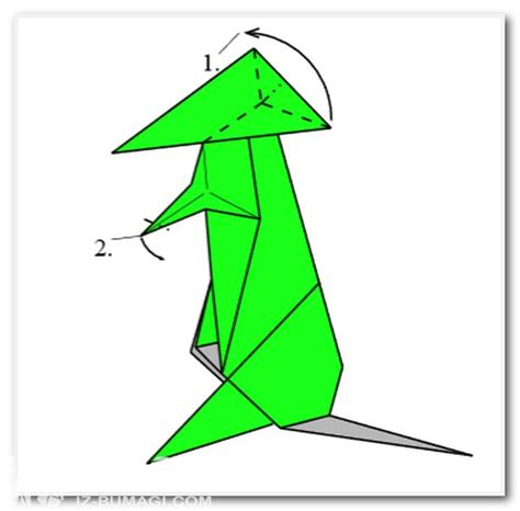 Origami Kangaroo - scheme of origami quot kangaroo quot schemes of origami from paper