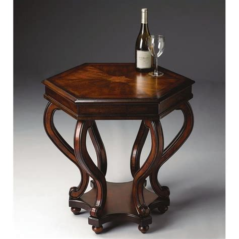 cherry accent table butler specialty accent table in plantation cherry finish