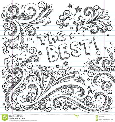 doodle best the best doodle sketch school school style vector stock