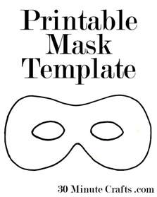 Mask Template For by Printable Mask Templates 30 Minute Crafts