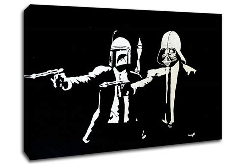 Online Shopping For Wall Stickers star wars pulp fiction banksy canvas stretched canvas