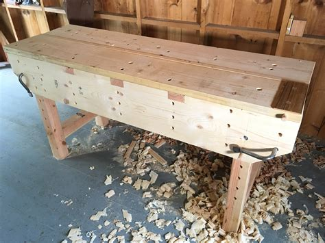 woodworkers workbench workbench plans  hand tool school