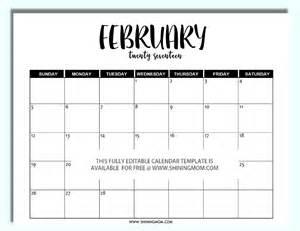 Kalender 2018 Edit February 2017 Calendar Editable 2017 Calendar Template
