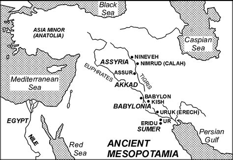 mesopotamia map coloring page mesopotamia map thinglink