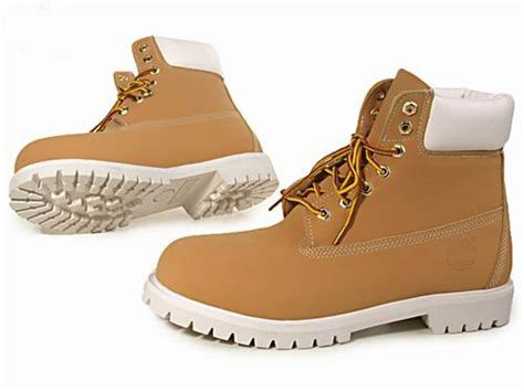 mens timberland boots white sole timberland mens 6 inch boots nubuck wheat white sole
