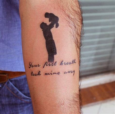 tattoo quotes for daddy mens father son tattoos with quote tattoo ideas