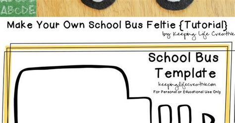 free printable school bus craft template school bus