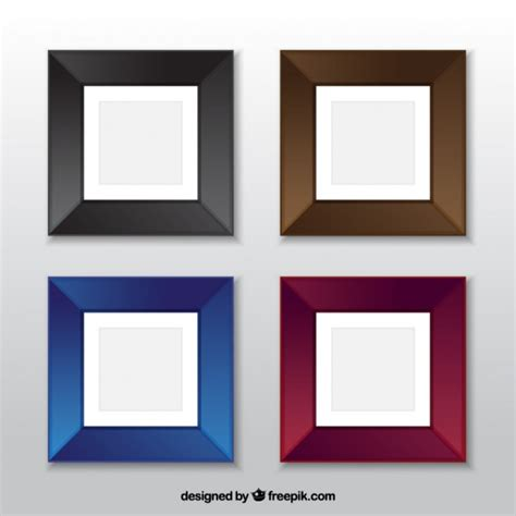 colored squared set of four colored square frames vector free