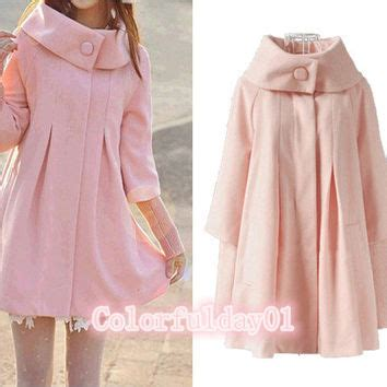 Coatjaket Azzura Pink Quality shop s fitted wool coat on wanelo