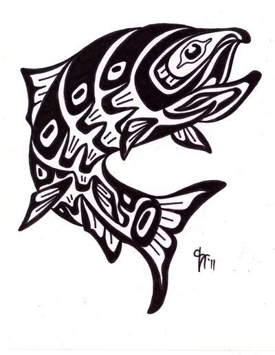 pacific northwest tattoo designs pacific northwest indian tribal salmon custom