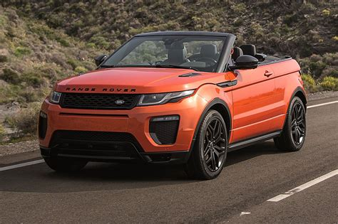 land rover car roofless streak range rover evoque finally goes