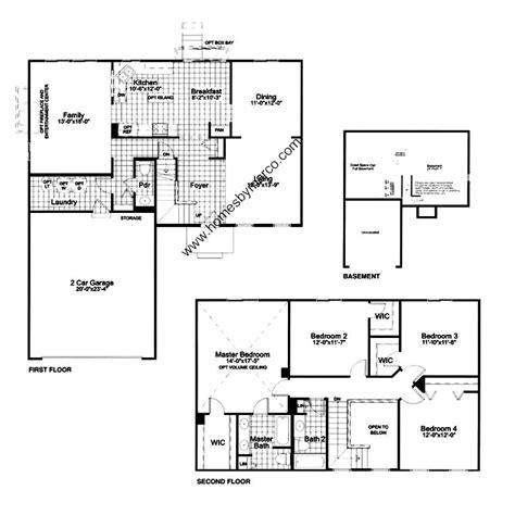 homes by marco floor plans hartford model in the lakewood grove subdivision in round