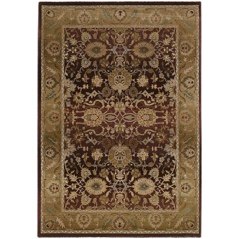 4 X 5 Area Rugs Home Decorators Collection Poise Plum 4 Ft X 5 Ft 9 In Area Rug 2538030910 The Home Depot