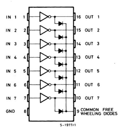 Uln2003a uln2003a darlington array 7 npn 500ma st microelectronics