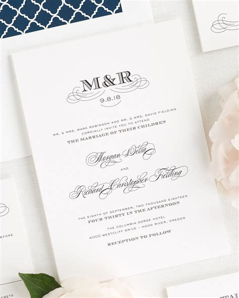 Monogram Wedding Invitations by Antique Monogram Wedding Invitations Wedding Invitations