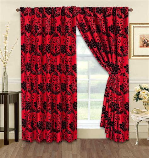 red and black curtains bedroom red black and white bedroom curtains soozone