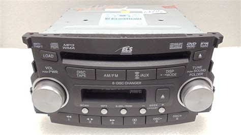 07 08 acura tl radio stereo 6 disc changer mp3 cd dvd