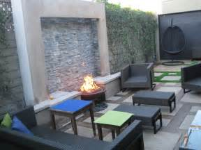 Patio Table With Firepit Fire Amp Water Feature Schaefer Residence Modern