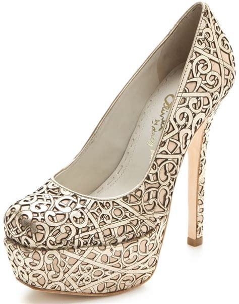 Hollywould Albane Laser Cut Pumps by The Larimore Laser Cut High Heels