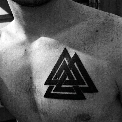 valknut tattoo simple 50 valknut tattoo designs for men norse mythology ink ideas