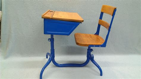 blue student desk antique student desk with attached chair whitevan