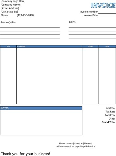 work invoice template pdf service invoice template for excel pdf and word
