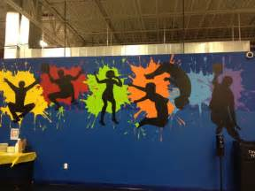 middle school libraries school murals silhouette school mural ideas