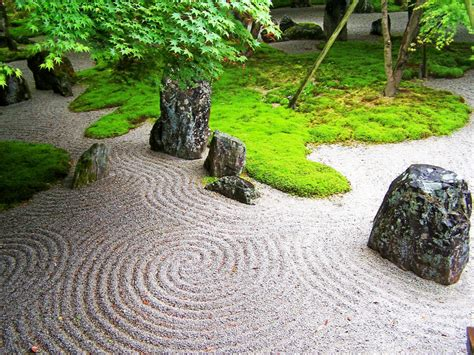 Asian Rock Garden with Japanese Rock Gardens