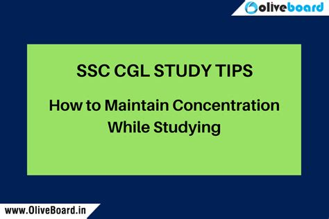 Do Mba Concentrations Matter by How To Maintain Concentration While Studying Ssc Cgl