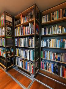 Movable Bookshelves Movable Bookcase Houzz