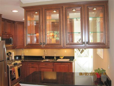 kitchen with glass cabinet doors kitchen cabinets glass doors marceladick com
