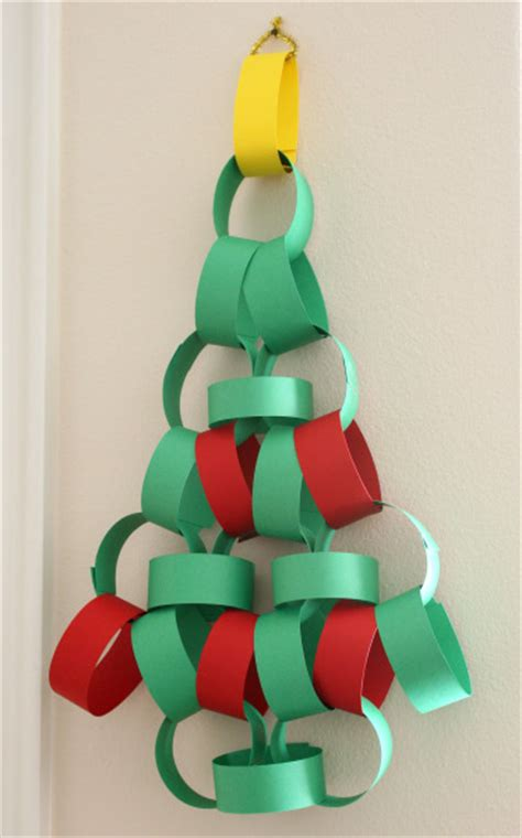 christmas tree paper chain advent calendar make and takes