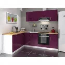 cuisine d angle r 233 versible laqu 233 aubergine 26 achat