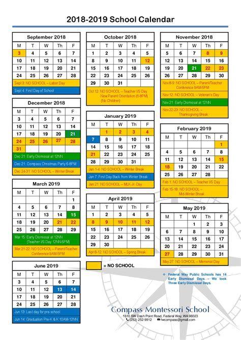 academic calendar for 2018 19 school year available online now