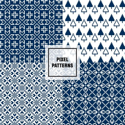 pixel pattern ai pixel pattern with trees vector free download