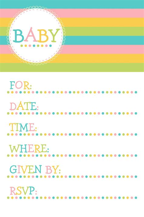 Baby Shower Invitations Templates For Word free baby invitation template free baby shower