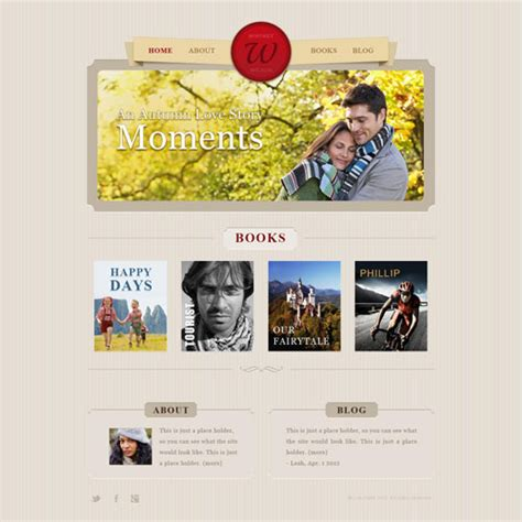book publishing templates book author portfolio web template free website templates