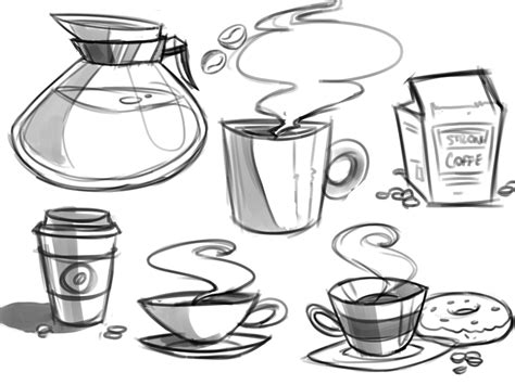 sketch maker tea and coffee drawings pictures to pin on pinsdaddy