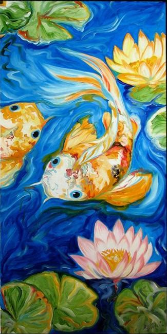 lotus koi lotus koi 2 by marcia baldwin from abstracts