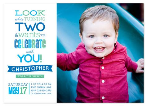 Birthday Quotes For Turning 2 Party Invitations Look Who S Turning Two At Minted Com