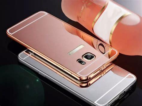 Bumper Samsung S6 Edge Plus Hardcase S6 Edge Cover luxury aluminum bumper mirror back for samsung