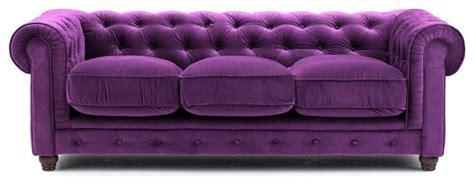Purple Velvet Chesterfield Sofa Three Seat Victorian Purple Velvet Chesterfield Sofa