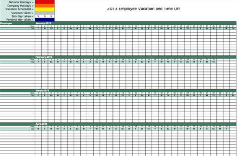 hr calendar template employee vacation calendar template 2015 calendar 2015