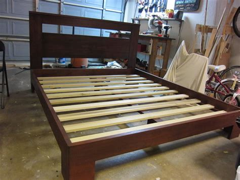How To Build A Wood Bed Frame Wood Bed Frame Plans Bed Plans Diy Blueprints