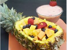 Fruit Salad In A Pineapple Boat Recipe - Food.com How To Cut A Pineapple Boat