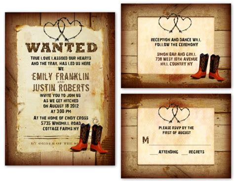 western wedding invitations templates chic and affordable country wedding invitations