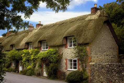 Thatched Cottages by Thatched Cottages Cerne Abbas 6952 Photo Chris