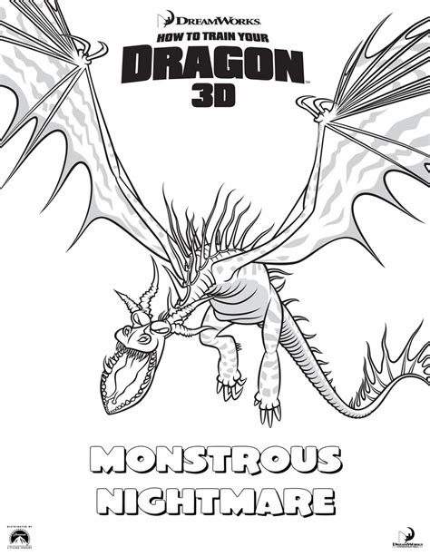 How To Your Coloring Pages monstrous nightmare coloring pages hellokids